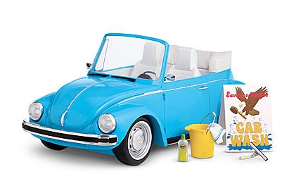 american girl doll VW bug
